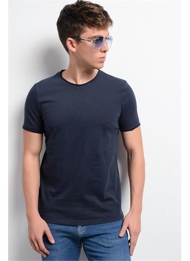 Rodi Jeans Erkek T-Shirt Fırçalı Süprem Bis.Yaka RD19YE279979 Lacivert